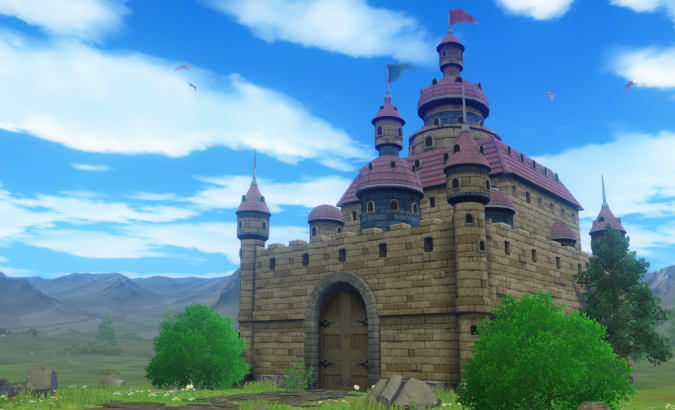 竜王の城外観