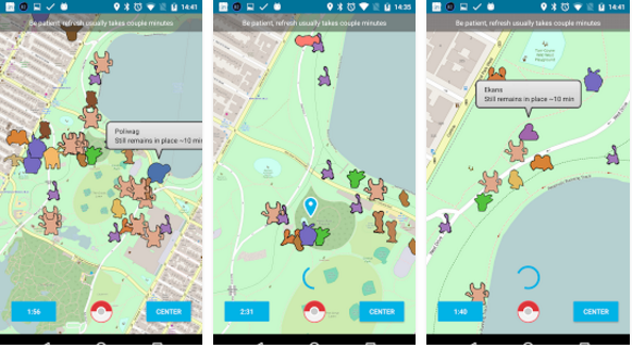 Realtime Map for Pokemon Go
