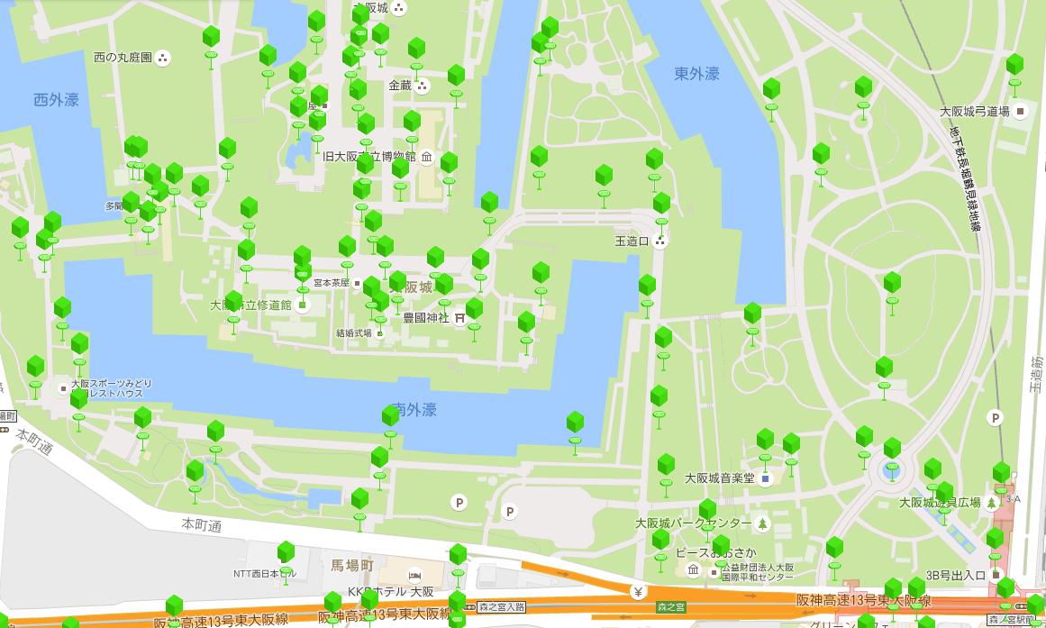 大阪城公園ポケストップ